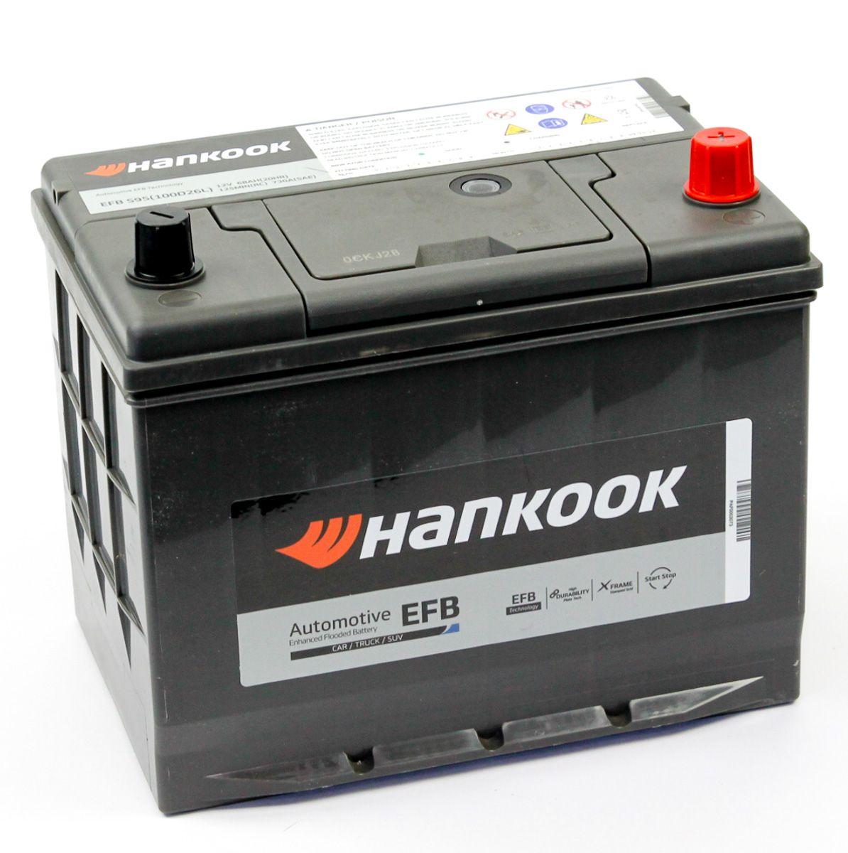 Аккумулятор HANKOOK 6СТ-68.0 (100D26L) купить в Волгограде