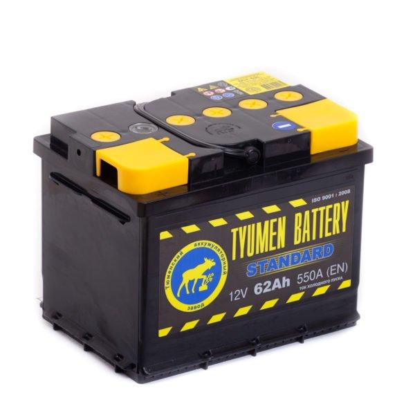 Купить аккумулятор TYUMEN BATTERY STANDART 6СТ-62 п.п. в Волгограде