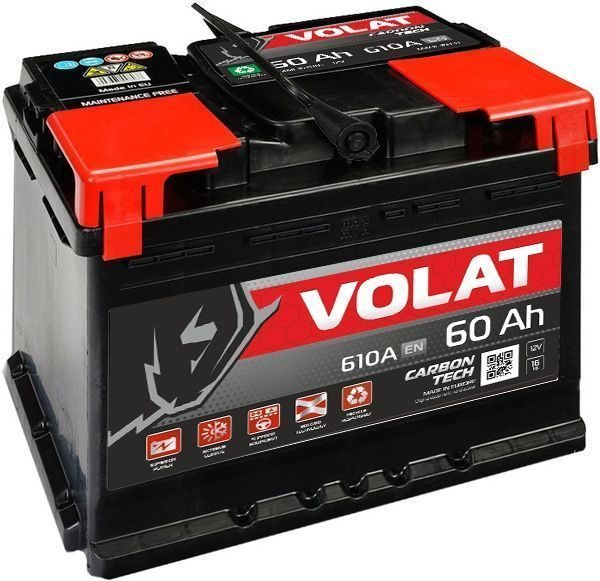Купить аккумулятор VOLAT 6СТ-60 в Волгограде