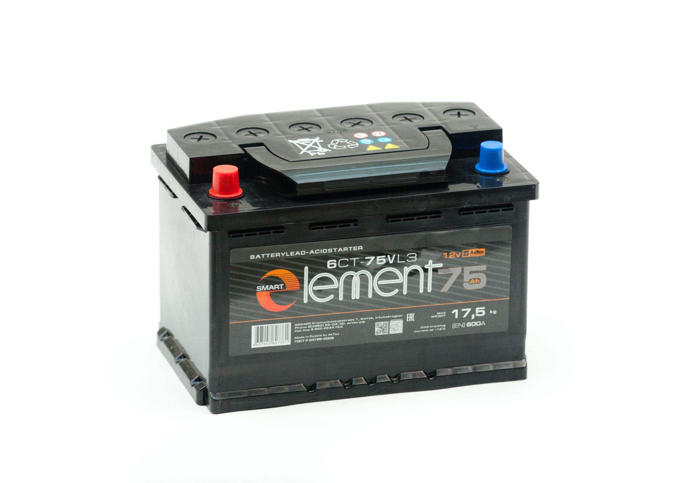 Аккумулятор Smart Element 6СТ-75 купить в Волгограде