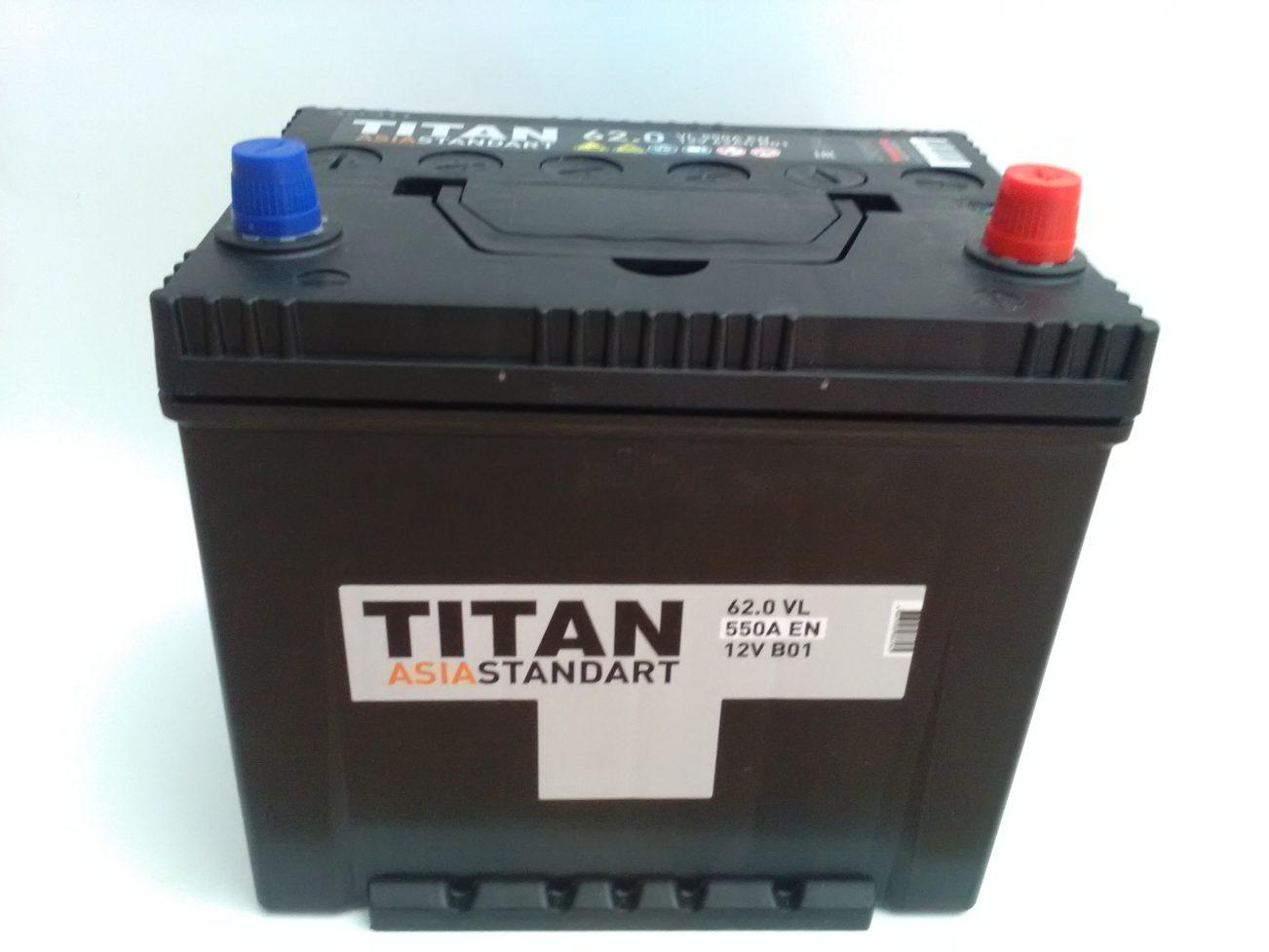 Аккумулятор TITAN ASIA STANDART 6СТ-62 купить в Волгограде