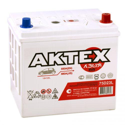 Купить аккумулятор АКТЕХ 6СТ-65 (75D23L) в Волгограде