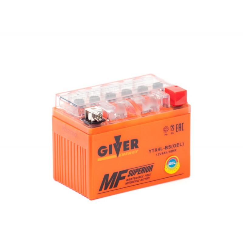 Аккумулятор GIVER ENERGY YTX4L-BS купить в Волгограде