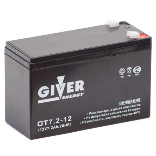 Аккумулятор GIVER ENERGY 12V/7,2Ач купить в Волгограде