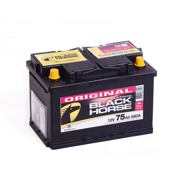 Аккумулятор Black Horse 6СТ-75.1 купить в Волгограде