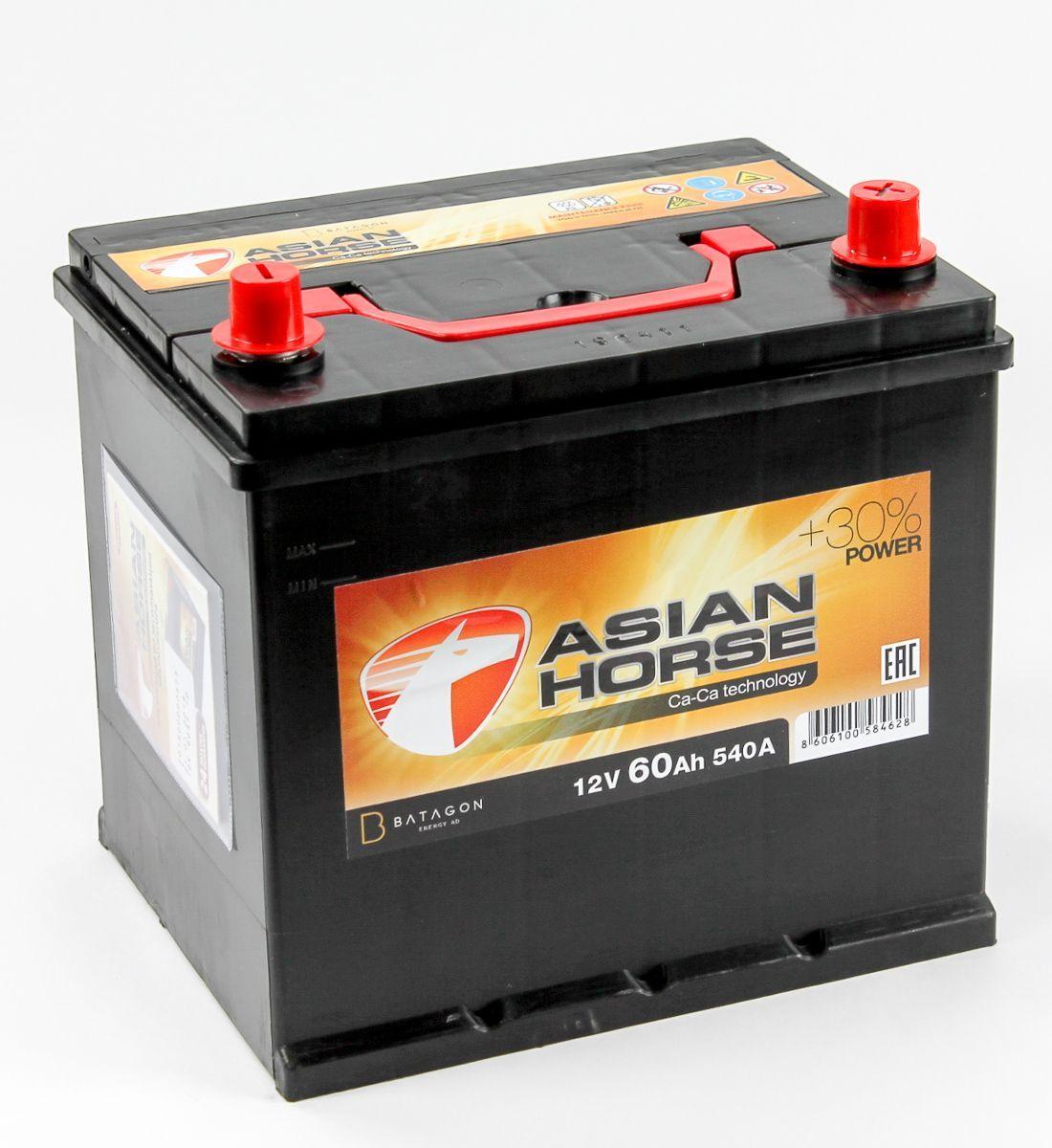 Аккумулятор Asian Horse 6СТ-60.0 купить в Волгограде