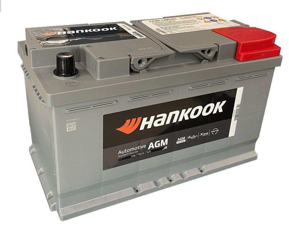 Аккумулятор HANKOOK 6СТ-80.0 AGM SA 58020 купить в Волгограде