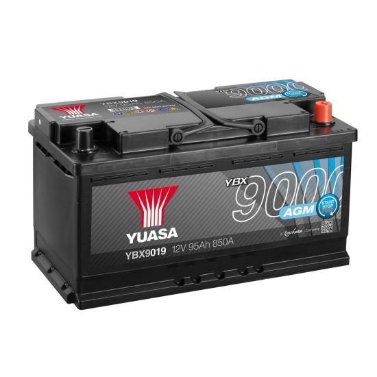 Аккумулятор YUASA 6СТ-95.0 YBX9019 AGM Start-Stop купить в Волгограде