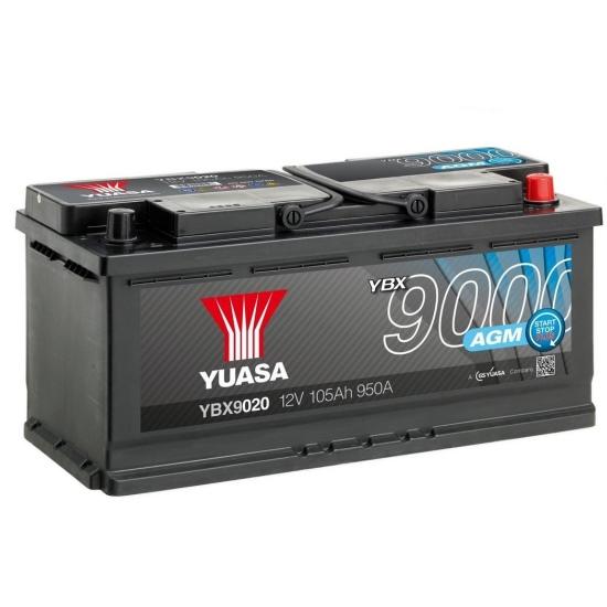 Аккумулятор YUASA 6СТ-105.0 YBX9020 AGM Start-Stop купить