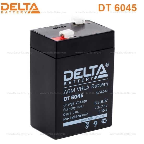 Аккумулятор DELTA DT 6045 6В 4.5А.ч. купить в Волгограде