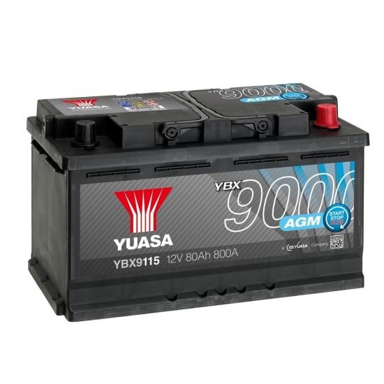 Аккумулятор YUASA 6СТ-80.0 YBX9115 AGM Start-Stop купить в Волгограде